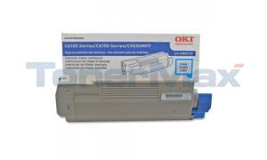 OKIDATA C6150 TONER CARTRIDGE CYAN (43865719)