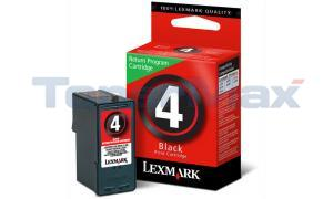 LEXMARK NO 4 PRINT CARTRIDGE BLACK RP (18C1974)