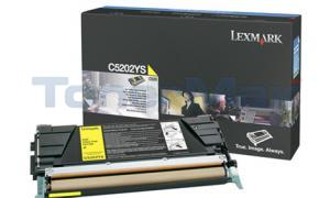 LEXMARK C520 C530 RP TONER CART YELLOW (C5202YS)