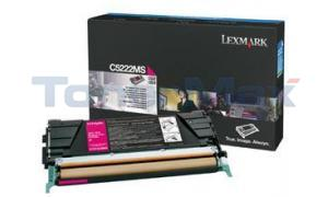 LEXMARK C524 TONER CARTRIDGE MAGENTA 3K (C5222MS)