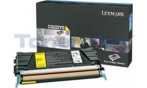 LEXMARK C524 TONER CARTRIDGE YELLOW 3K (C5222YS)