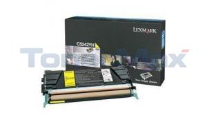 LEXMARK C524 C532 TONER CARTRIDGE YELLOW 5K (C5242YH)