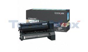 LEXMARK C780 X782 TONER CARTRIDGE BLACK 6K RP (C780A1KG)
