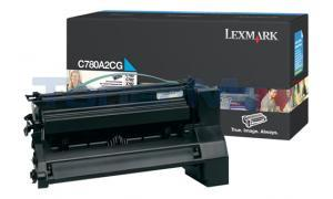 LEXMARK C780 X782 TONER CARTRIDGE CYAN 6K (C780A2CG)