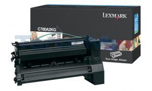 LEXMARK C780 X782 TONER CARTRIDGE BLACK 6K (C780A2KG)