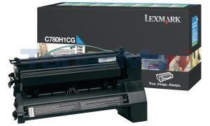 LEXMARK C780 X782 TONER CARTRIDGE CYAN 10K RP (C780H1CG)
