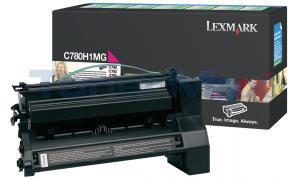 LEXMARK C780 X782 TONER CARTRIDGE MAGENTA 10K RP (C780H1MG)