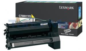 LEXMARK C780 X782 TONER CARTRIDGE YELLOW 10K RP (C780H1YG)
