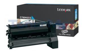 LEXMARK C780 X782 TONER CARTRIDGE CYAN 10K (C780H2CG)