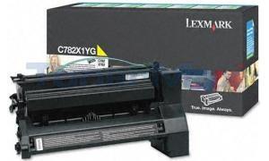 LEXMARK C782 X782 TONER CART YELLOW RP 15K (C782X1YG)