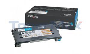 LEXMARK X500 X502 TONER CARTRIDGE CYAN 3K (C500H2CG)