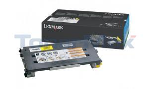 LEXMARK X500 X502 TONER CARTRIDGE YELLOW 3K (C500H2YG)