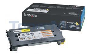 LEXMARK X500 X502 TONER CARTRIDGE YELLOW 1.5K (C500S2YG)