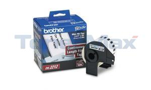 BROTHER P-TOUCH BLACK ON WHITE FILM TAPE 2-3/7IN (DK2212)