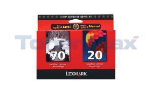 LEXMARK X125 NO. 70 20 PRINT CART CMYK COMBO PACK (15M2328)
