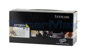 LEXMARK C770 PRINT CARTRIDGE YELLOW RP 10K (C7700YH)