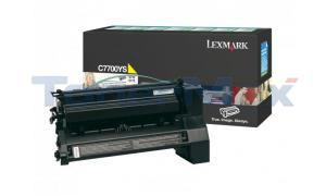 LEXMARK C770 RP PRINT CART YELLOW 6K (C7700YS)