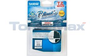 BROTHER TZ TAPE CTG WHITE ON CLEAR 3/4 WIDTH (TZ-145)