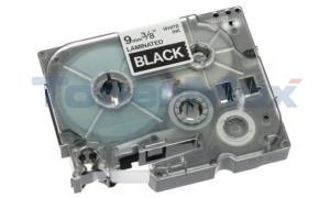 BROTHER TZ TAPE CTG WHITE ON BLACK 3/8IN WIDTH (TZ-325)