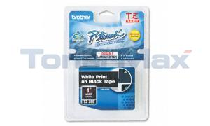 BROTHER TZ TAPE CTG WHITE ON BLACK 1IN WIDTH (TZ-355)