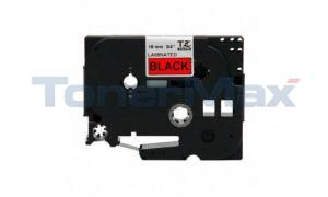 BROTHER TZ TAPE CTG BLACK ON RED 3/4IN WIDTH (TZ-441)