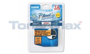 BROTHER TZ SERIES TAPE CTG BLACK/FL. ORANGE 3/4IN (TZ-B41)