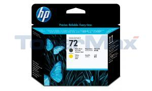 HP NO 72 PRINTHEAD MATTE BLACK/YELLOW (C9384A)