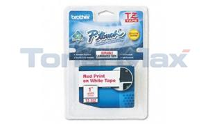 BROTHER P-TOUCH TAPE RED/WHITE (1 X 26) (TZ-252)