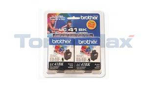 BROTHER MFC-210C INK CARTRIDGES BLACK (LC41BK2PKS)
