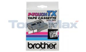 BROTHER P-TOUCH TAPE BLACK/CLEAR 18 MM X 15 M (TX-1411)
