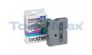 BROTHER P-TOUCH TAPE BLACK/GREEN (24 MM X 15 M) (TX-7511)