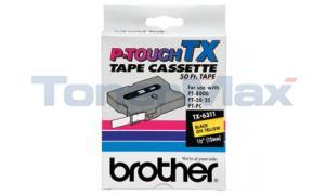 BROTHER P-TOUCH TAPE BLACK/YELLOW (1/2 X 50) (TX-6311)