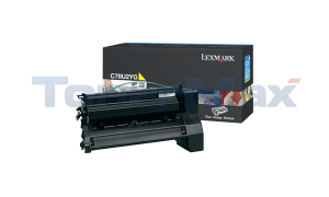 LEXMARK C782 XL PRINT CART YELLOW 16.5K (C782U2YG)
