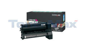 LEXMARK C782 XL PRINT CARTRIDGE MAGENTA RP 16.5K (C782U1MG)