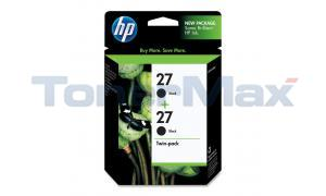 HP NO 27 INK CARTRIDGE BLACK TWIN-PACK (C9322FN)