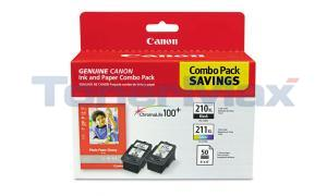 CANON PG-210XL CL-211XL INK CMYK PAPER COMBO PACK (2973B004)