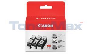 CANON PGI-220 INK TANK BLACK 3PK (2945B004)