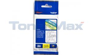 BROTHER TZ LAMINATED TAPE WHITE ON CLEAR 12 MM X8 M (TZE-135)
