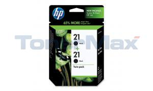HP NO 21 INKJET PRINT CARTRIDGES BLACK TWIN-PACK (C9508FN)