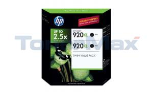 HP OFFICEJET NO 920XL INK BLACK TWIN VALUE PACK (CN701BN)