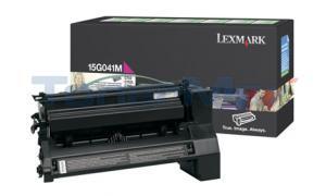LEXMARK C752 RP PRINT CART MAGENTA 6K (15G041M)