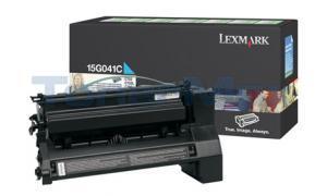 LEXMARK C752 RP PRINT CART CYAN 6K (15G041C)