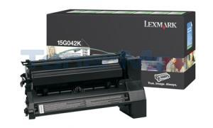 LEXMARK C752 PRINT CARTRIDGE BLACK RP 15K (15G042K)