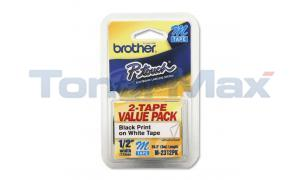 BROTHER PT-65 TAPE BLACK/WHITE VALUE PACK (M-2312PK)