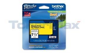BROTHER TZ LAMINATED TAPE BLACK ON YELLOW 36 MM X 8 M (TZE-661)