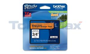BROTHER TZ LAMINATED TAPE BLACK ON BRIGHT ORANGE 18 MM X 5 M (TZE-B41)