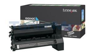 LEXMARK C752 PRINT CARTRIDGE CYAN RP 15K (15G042C)