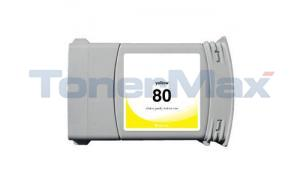 Compatible for HP DESIGNJET 1050C NO 80 INK YELLOW 350ML (C4848A)