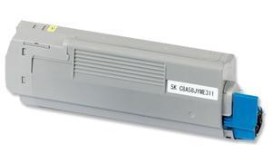 Compatible for OKIDATA C5950 TONER YELLOW (43865721)