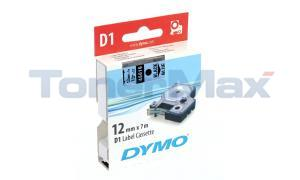 DYMO TAPE CASSETTE 12MM X 7M BLACK/BLUE (S0720560)